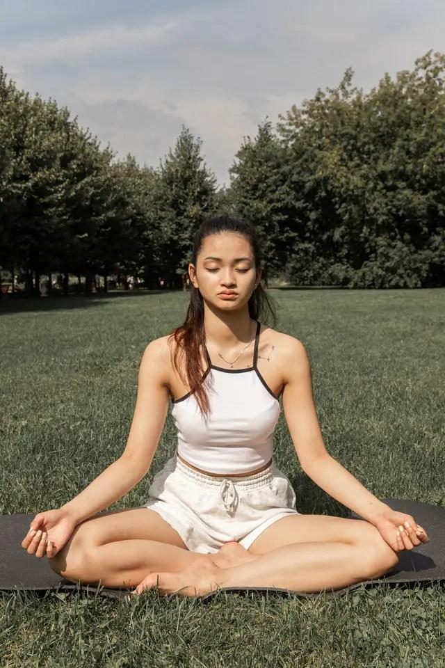 Sukhasana pose for Kundalini Yoga
