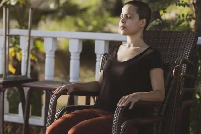 women practicing mindfulness