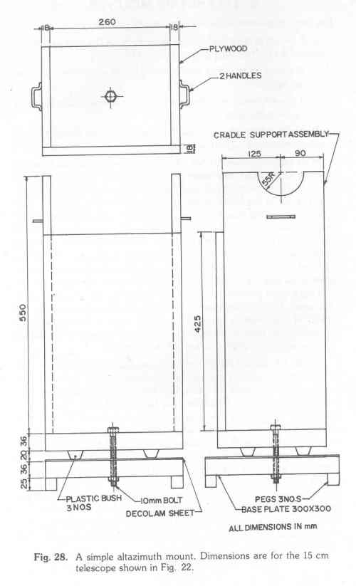 small resolution of 31 which utilises pipe fittings and blocks of wood the polar axis pipe should be welded or riveted to the t the declination