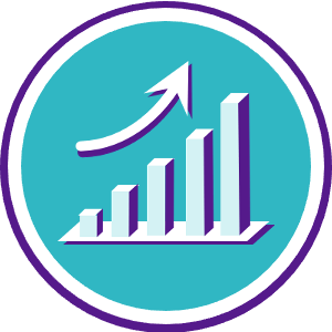 icon of a chart showing an upward trend
