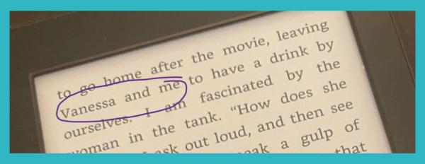 screenshot of an eBook showing the words
