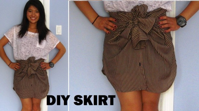 mens shirt into skirt