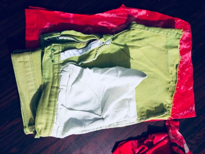 t-shirt into shorts