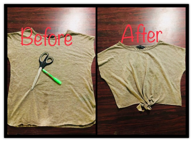 No-Sew Knotted Top
