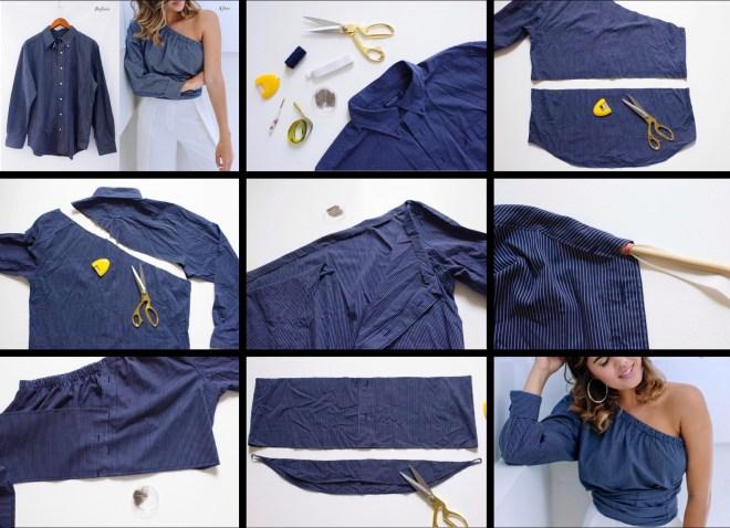 men's shirt refashion