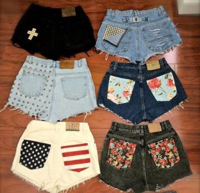 printed pocket shorts