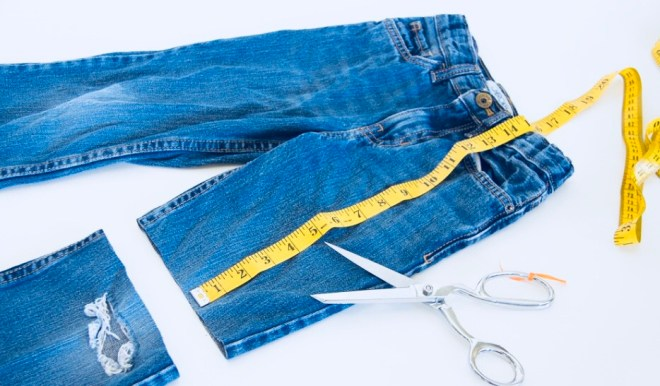 jeans into skirt