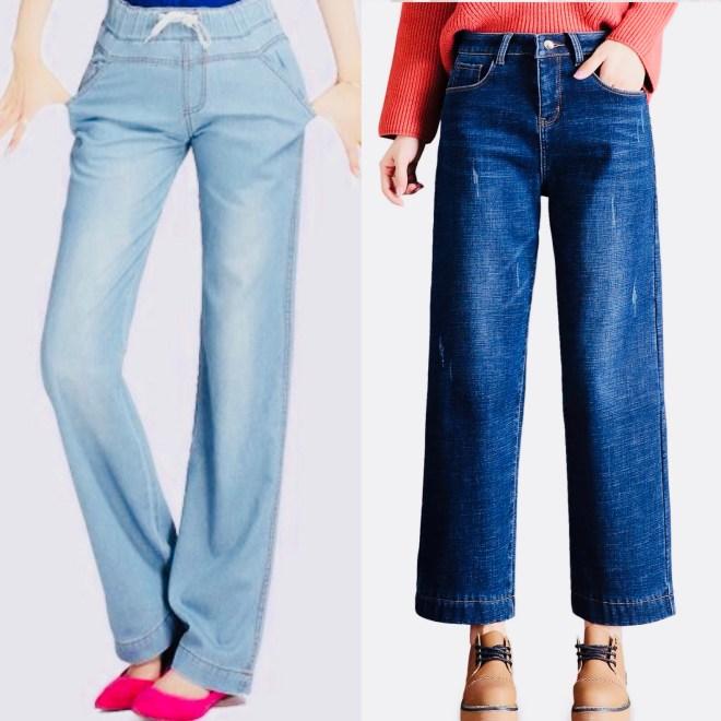 straight wide leg jeans