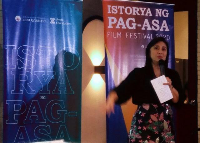 Vice President Leni Robredo, IPFF 2020, film festival, story of hope