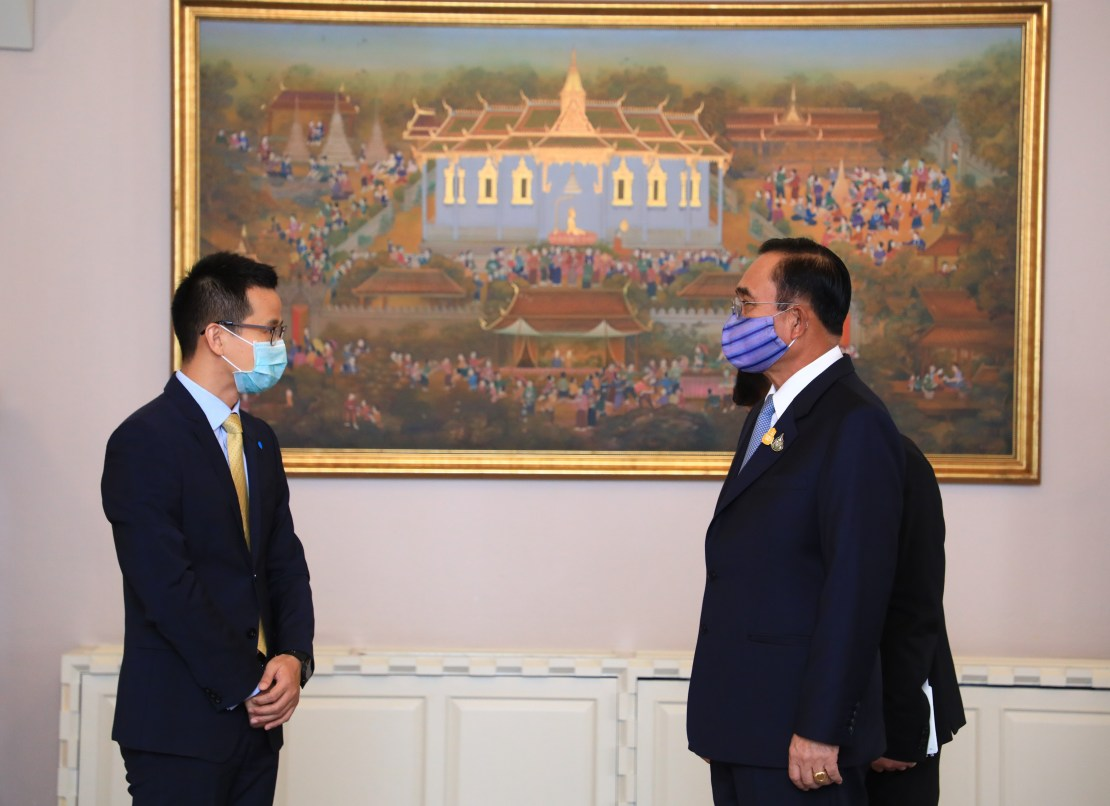 Thailand, Prime Minister Chan-o-cha, CEO Abel Deng, Huawei, 5G, Covid-19