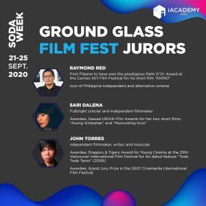 Shows the jurors for the iAcademy film festival.