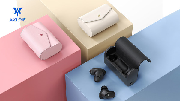 AXLOIE F1 True Wireless Earbuds Active Noise Cancellation 4-Mic Noise Cancellation for Clear Calls Breathtaking Sound Quality for Gym Airport Outdoors