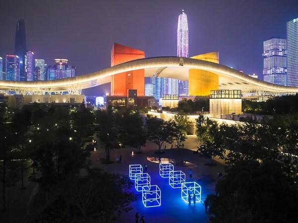 GLOW SHENZHEN 2020 in the Civic Center of Shenzhen