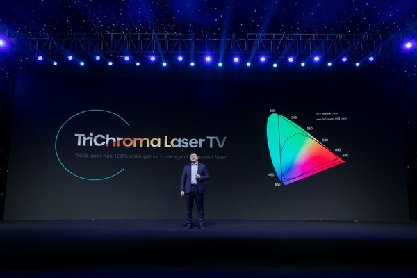 Hisense announced its cutting-edge display technology with a transformative product line of TriChroma Laser TV.