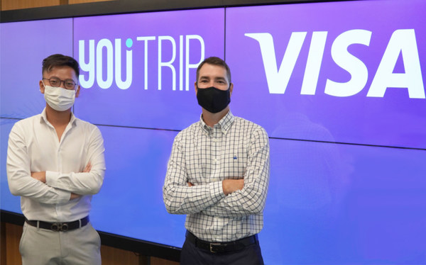 Kelvin Lam, YouTrip Regional General Manager of YouTrip and Matt Wood, Visa Head of Digital Partnerships Asia Pacific