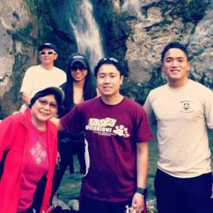 The Chin Family on a vacation pre-pandemic.