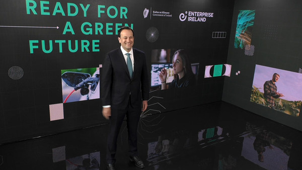 Ireland's Deputy Prime Minster Leo Varadkar Launching Green Innovation Campaign for St. Patrick's Day.