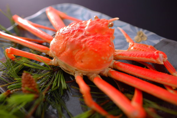 A winter specialty in Wakura Onsen - fresh crab straight from the ocean.
