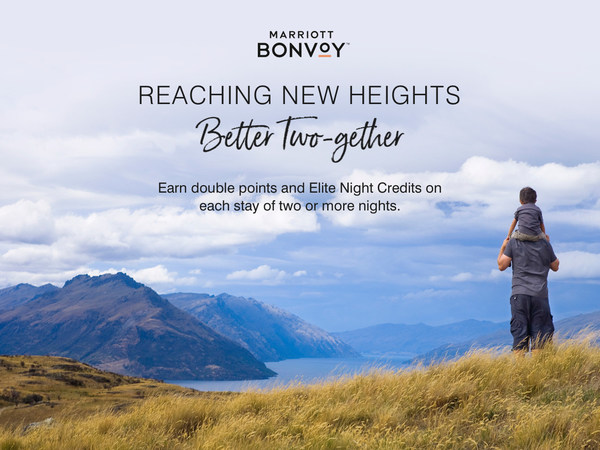 Marriott Bonvoy members will earn double points and double elite night credits when they stay two nights or longer between February 16 – April 27, 2021, at participating properties.