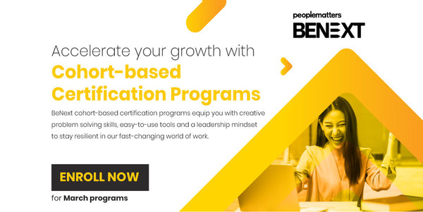 People Matters BeNext Cohort-based Certification Program for HR and Talent Professionals