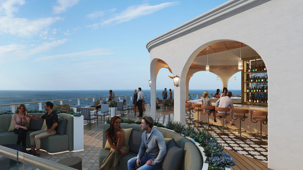 One of the most anticipated venues on Celebrity Beyond the Nate Berkus-designed Sunset Bar is nearly twice as large as previous iterations. The Moroccan-inspired escape, with conversation niches and covered enclaves, is reminiscent of a modern-day Casablanca and sure to be one of the hottest spots at sea. Guests enter through a pergola-covered entrance and Sunset Bar's cascading terraces combine to provide the perfect place to soak in spectacular views and create unforgettable memories.