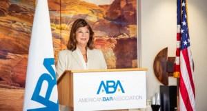 President of American Bar Association Patricia Lee Redo..