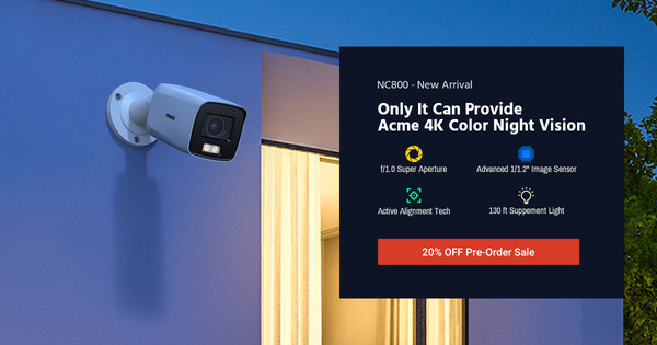 ANNKE NightChroma NC800 4K PoE IP Camera