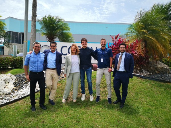 From left to right: Efraín Rodriguez – CEO, Copan Industries; Ernesto Rodriguez, Consultant, Copan Group; Stefania Triva – President and CEO, Copan Group; Marco Rovetta – Sr. Technical Services Manager Copan Industries; Agustin Oros – Production Director, Copan Industries; Giorgio Triva – Strategic Project Manager, Copan Group