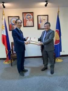 Philippine Embassy staff hit by coronavirus.