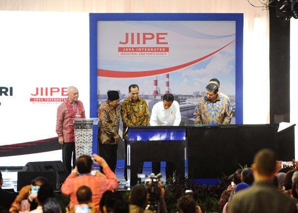President Jokowi inaugurating JIIPE in 2018