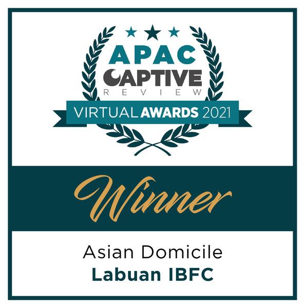 Labuan IBFC won the 'Asian Domicile' category at APAC Captive Review Awards 2021