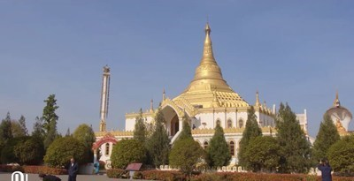 Pagodas donated by Myanmar in China