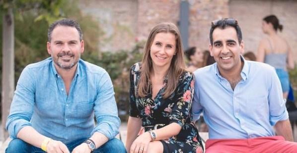 Atheneum co-founders , Mathias Wengeler (Left), Marta Margolis (middle), Ammad Ahmad (right)