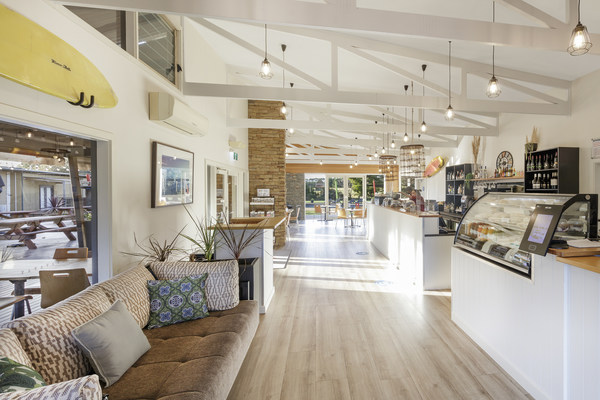 The newly opened Flametrees Restaurant at Ramada Phillip Island, Victoria, Australia