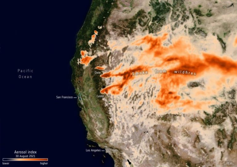 Aerosols From California's Fires 2021