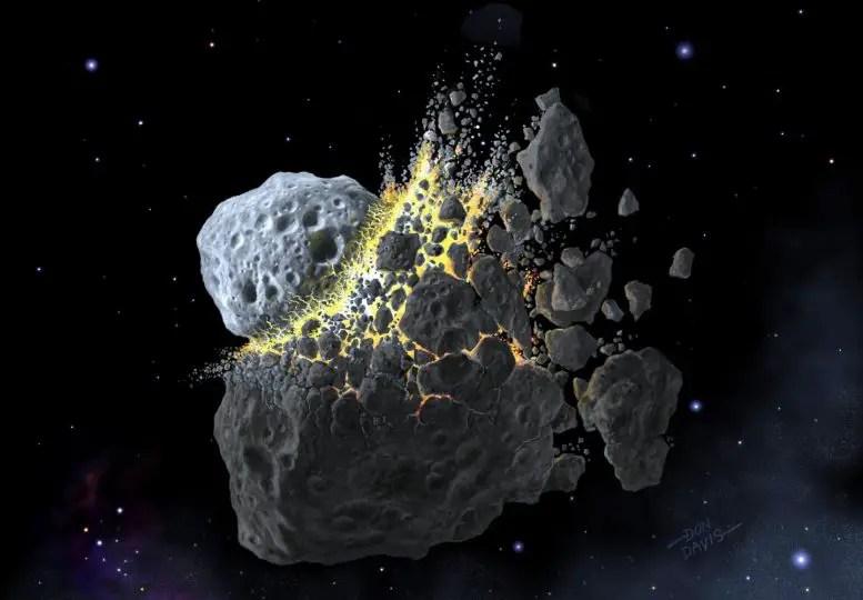 Asteroid Break-Up Illustration