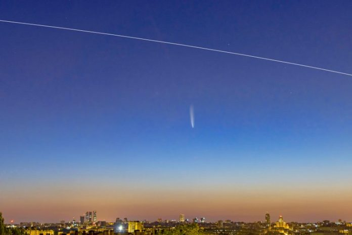 Comet NEOWISE ISS Madrid
