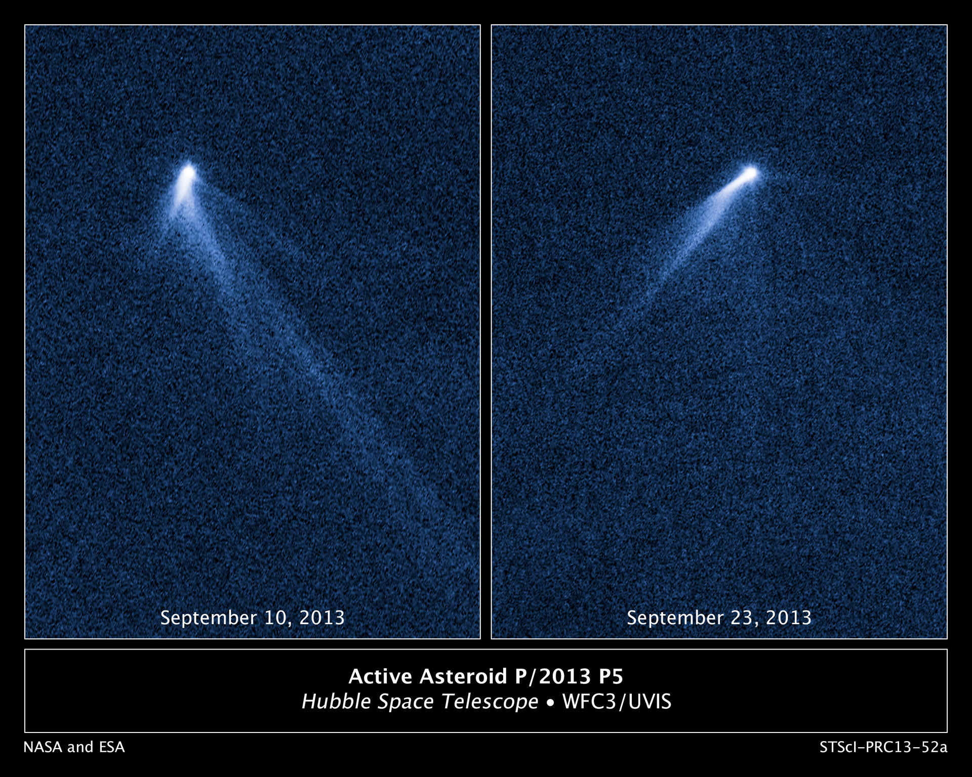 Hubble Sees An Asteroid With Six Comet Like Tails
