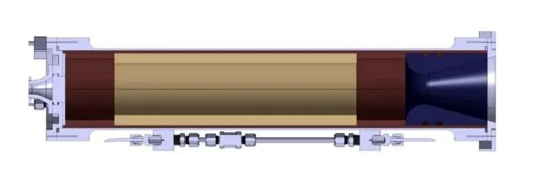 Combustion chamber for hybrid rocket motors