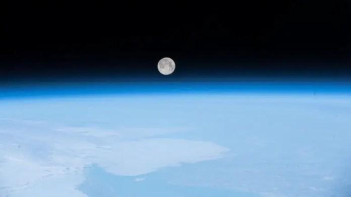 ISS Full Moon
