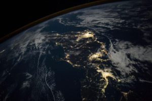 Japan at night: a favorite photo of an astronaut