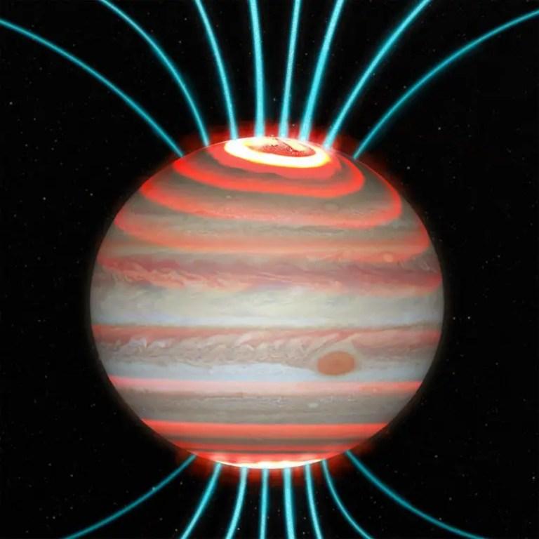 Jupiter's Magnetic Field Lines