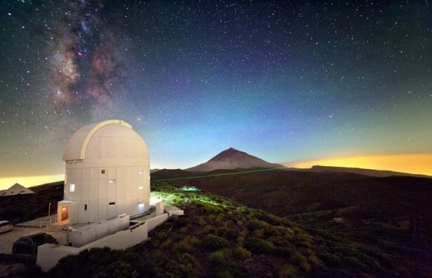 Laser From Optical Ground Station on Tenerife
