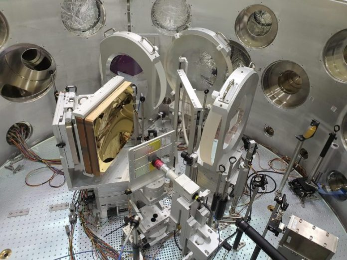 The interaction chamber between the laser and the substance