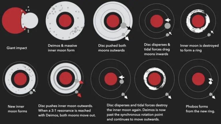 Mars Rings Moons