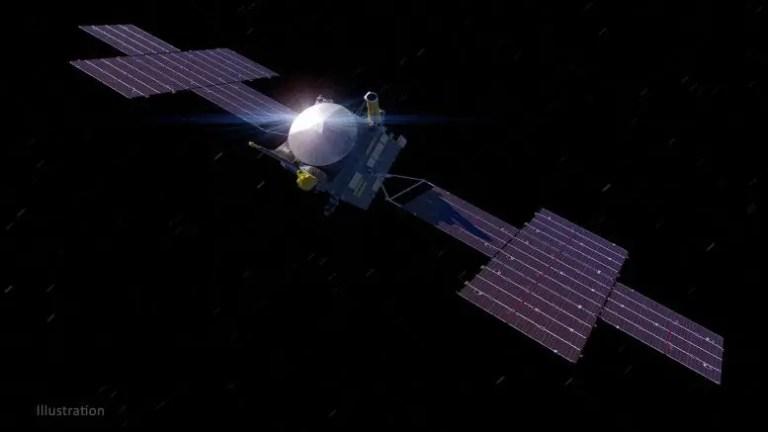 NASA Psyche Spacecraft Illustration