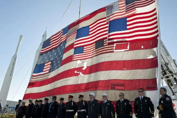National 9/11 Flag Rocket Garden