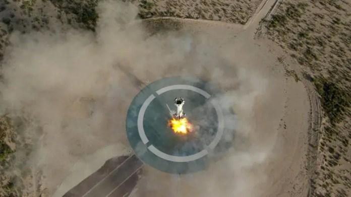 New Shepard Booster Lands