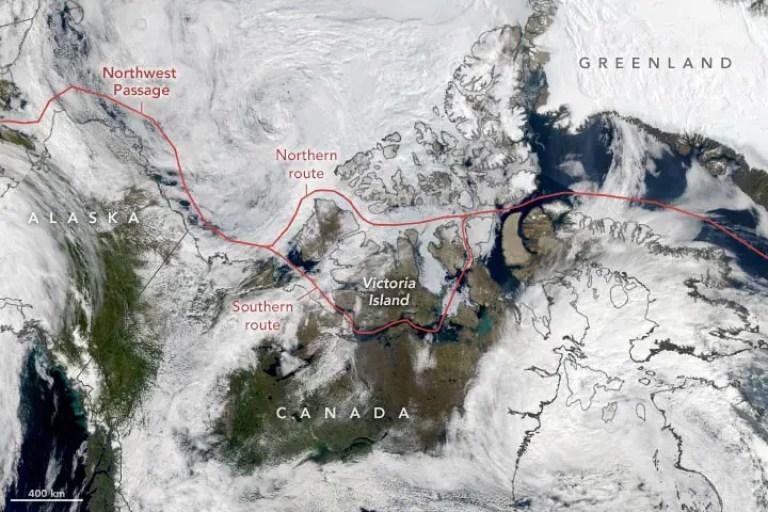 Northwest Passage August 2021 Annotated