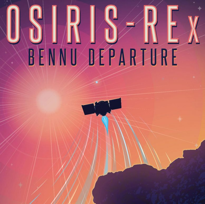 Departure OSIRIS-REx Bennu